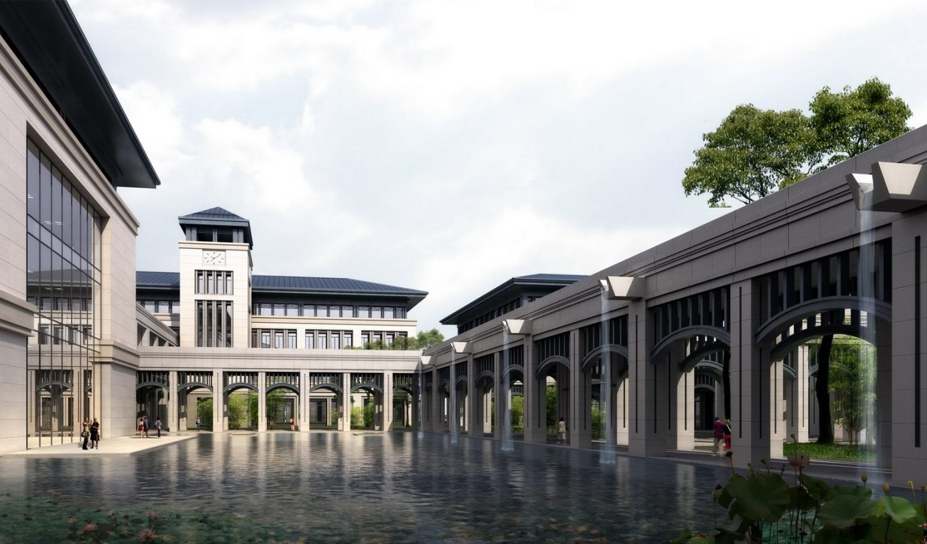 澳门大学横琴校区南欧风情建筑效果图