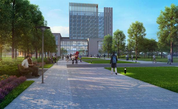 校园中心绿地设计图展示